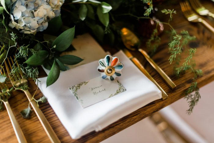 Whimsical Wedding Place Settings: Vibrant Whimsical Wedding at Rustic Acres Farm from Dawn Derbyshire Photography featured on Burgh Brides