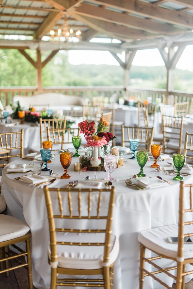 Colorful Barn Wedding: Vibrant Whimsical Wedding at Rustic Acres Farm from Dawn Derbyshire Photography featured on Burgh Brides