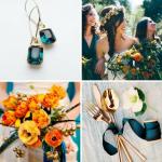Burnt Orange & Dark Teal Wedding Inspiration from Burgh Brides
