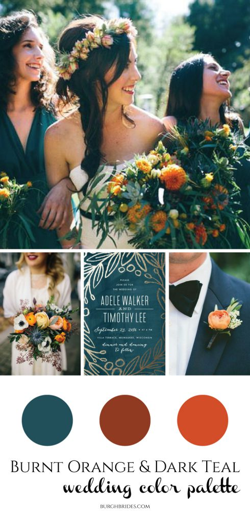 Burnt Orange Dark Teal Wedding Inspiration From Burgh Brides