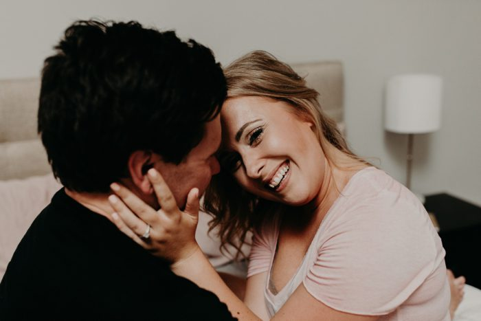 At Home Engagement Session from Rachel Rowland Photography featured on Burgh Brides