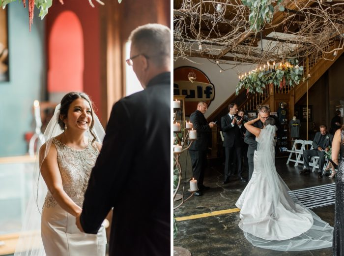 Glamorous Black, White, & Gold Wedding with a Pittsburgh Theme at the Heinz History Center from Sky's the Limit Photography featured on Burgh Brides