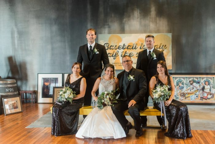 Pittsburgh Wedding Ideas: Glamorous Black, White, & Gold Wedding with a Pittsburgh Theme at the Heinz History Center from Sky's the Limit Photography featured on Burgh Brides