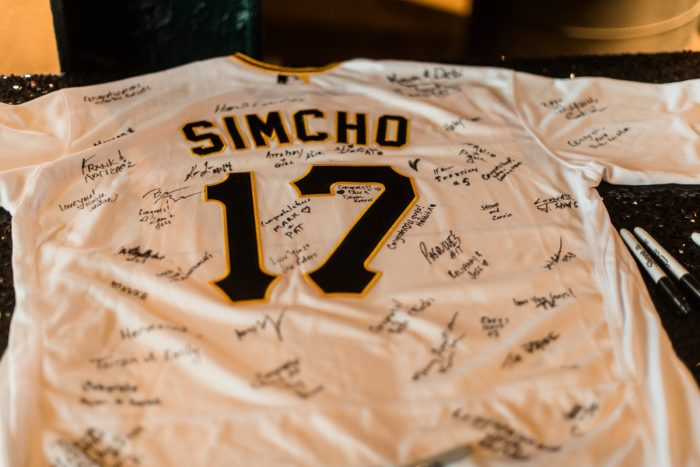 Wedding Guest Book Ideas: Glamorous Black, White, & Gold Wedding with a Pittsburgh Theme at the Heinz History Center from Sky's the Limit Photography featured on Burgh Brides