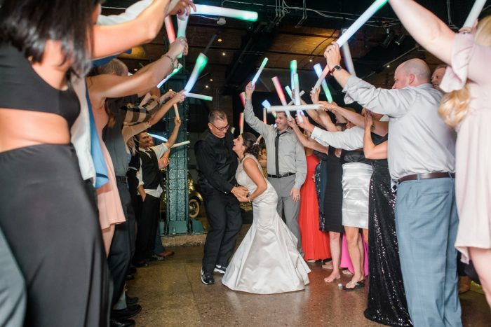 Unique Wedding Exit Ideas: Glamorous Black, White, & Gold Wedding with a Pittsburgh Theme at the Heinz History Center from Sky's the Limit Photography featured on Burgh Brides