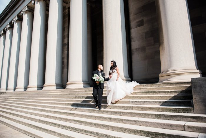 Fairy Tale Wedding Photos: Glamorous Doubletree Pittsburgh Airport Wedding from Kathryn Hyslop Photography featured on Burgh Brides