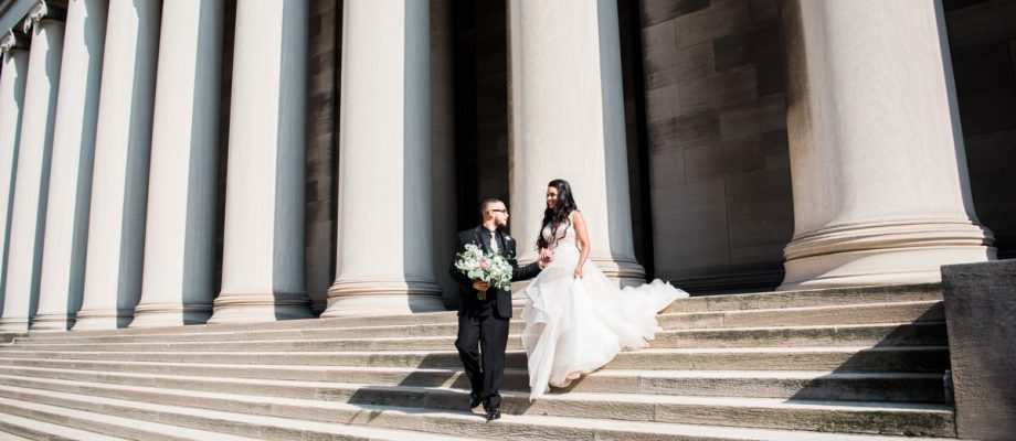 Glamorous City Wedding at the DoubleTree Hotel: Jourdan & Vincent