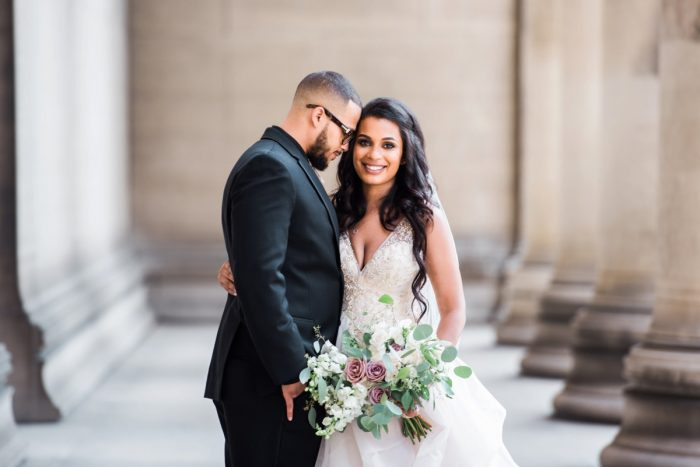 Romantic Wedding Photos: Glamorous Doubletree Pittsburgh Airport Wedding from Kathryn Hyslop Photography featured on Burgh Brides