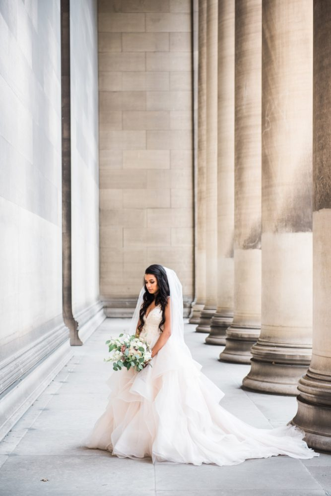 Princess Ballgown Wedding Dress: Glamorous Doubletree Pittsburgh Airport Wedding from Kathryn Hyslop Photography featured on Burgh Brides