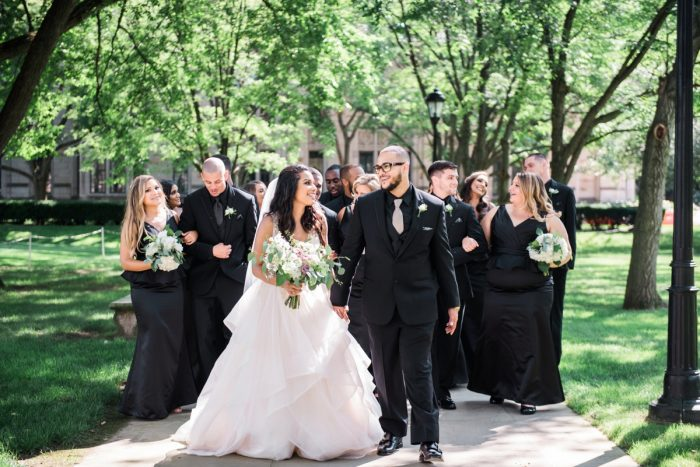 Classic Bridal Party Style: Glamorous Doubletree Pittsburgh Airport Wedding from Kathryn Hyslop Photography featured on Burgh Brides