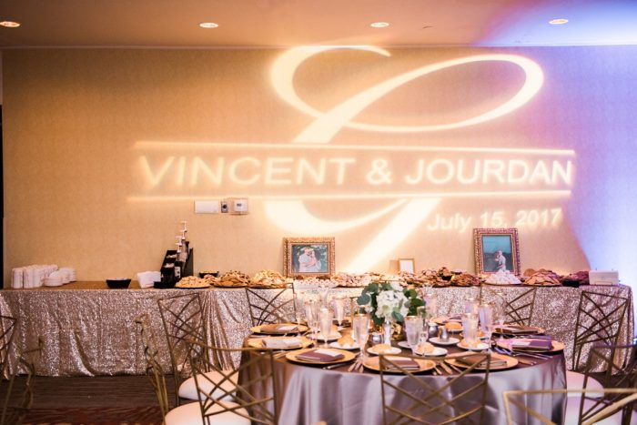 Custom Wedding Lighting: Glamorous Doubletree Pittsburgh Airport Wedding from Kathryn Hyslop Photography featured on Burgh Brides