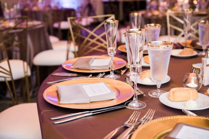 Gold Wedding Details: Glamorous Doubletree Pittsburgh Airport Wedding from Kathryn Hyslop Photography featured on Burgh Brides