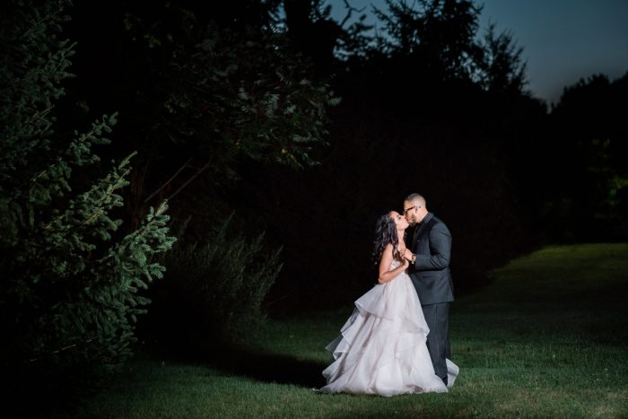 Night Time Wedding Photos: Glamorous Doubletree Pittsburgh Airport Wedding from Kathryn Hyslop Photography featured on Burgh Brides