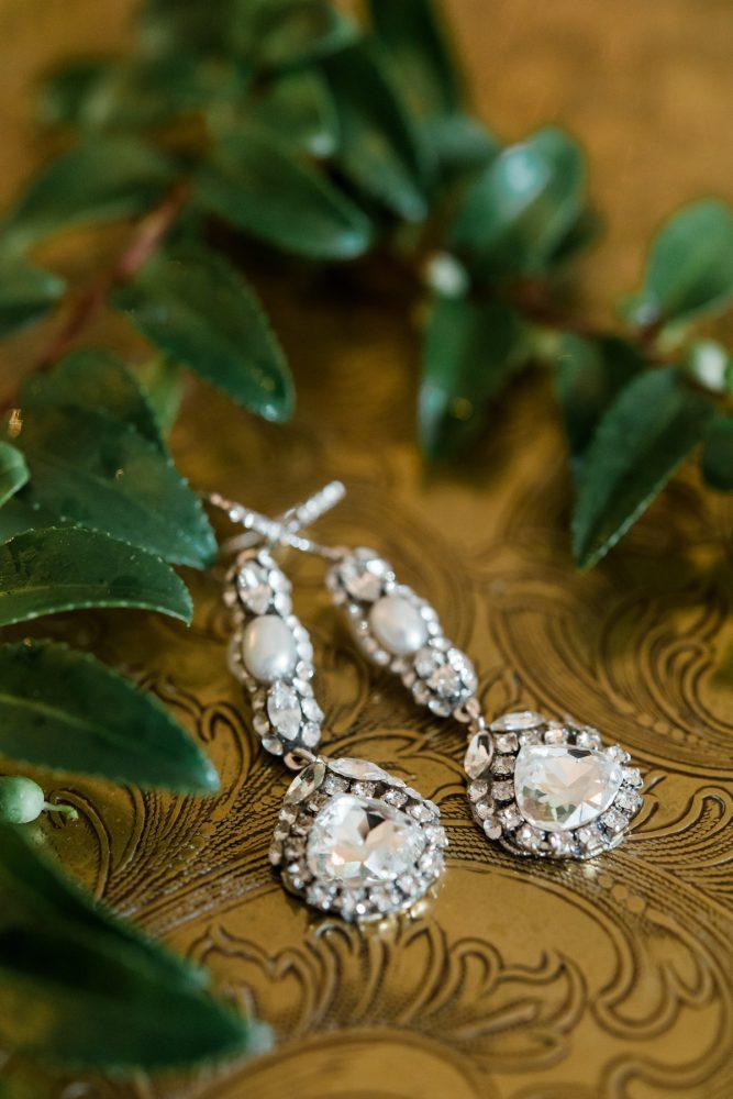 Rhinestone Drop Earrings: Stunning & Enchanting Wedding at Fox Chapel Golf Club from Dawn Derbyshire Photography featured on Burgh Brides
