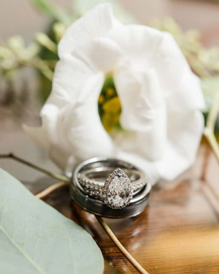 Pear Shaped Diamond Engagement Ring: Stunning & Enchanting Wedding at Fox Chapel Golf Club from Dawn Derbyshire Photography featured on Burgh Brides