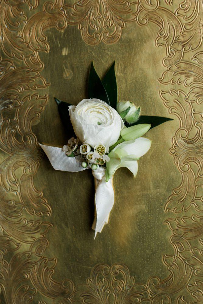 Groom Boutonniere: Stunning & Enchanting Wedding at Fox Chapel Golf Club from Dawn Derbyshire Photography featured on Burgh Brides