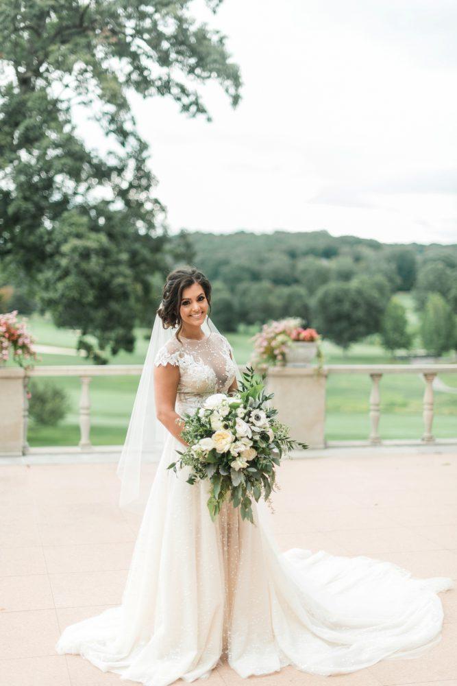 Berta Wedding Dress: Stunning & Enchanting Wedding at Fox Chapel Golf Club from Dawn Derbyshire Photography featured on Burgh Brides