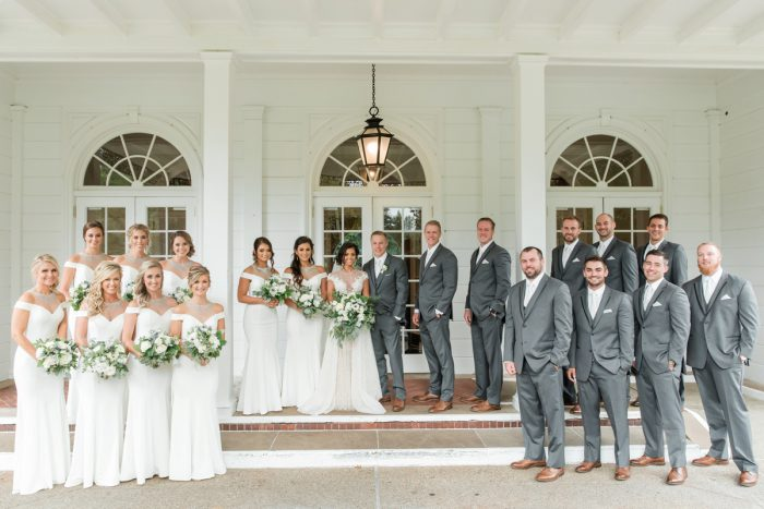 White Bridesmaids Dresses: Stunning & Enchanting Wedding at Fox Chapel Golf Club from Dawn Derbyshire Photography featured on Burgh Brides