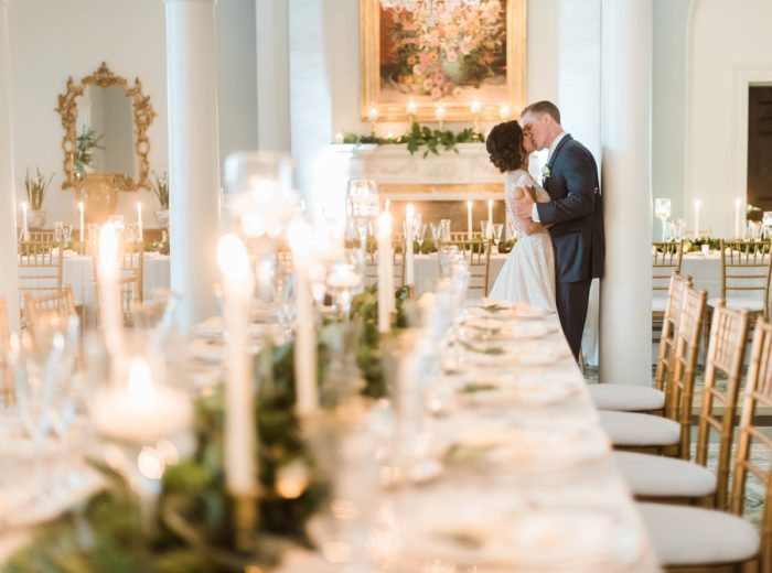 Long Tables at Wedding: Stunning & Enchanting Wedding at Fox Chapel Golf Club from Dawn Derbyshire Photography featured on Burgh Brides