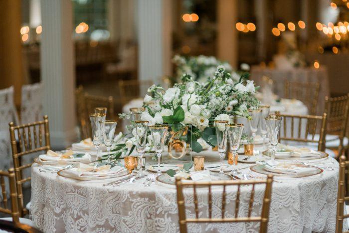 White Wedding Flowers: Stunning & Enchanting Wedding at Fox Chapel Golf Club from Dawn Derbyshire Photography featured on Burgh Brides