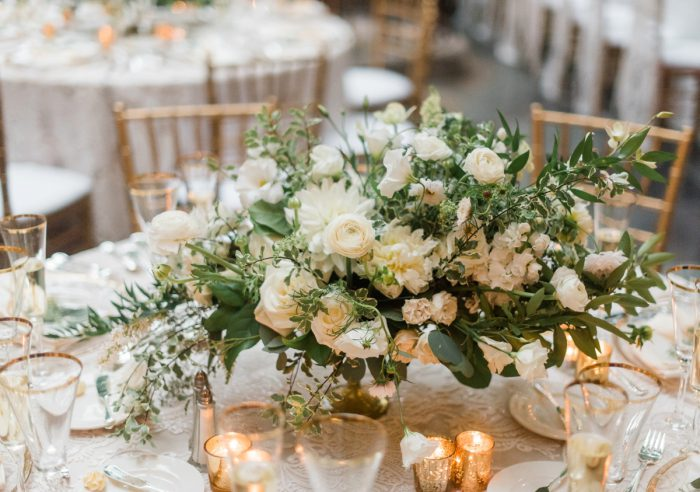 White and Green Wedding Flowers: Stunning & Enchanting Wedding at Fox Chapel Golf Club from Dawn Derbyshire Photography featured on Burgh Brides