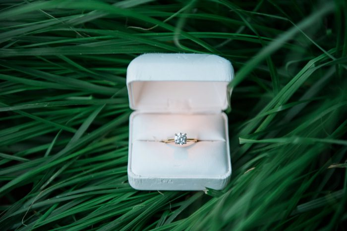 Gold Engagement Ring: Surprise Strip District Proposal from Kathryn Hyslop Photography featured on Burgh Brides