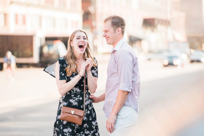 Surprise Strip District Proposal from Kathryn Hyslop Photography featured on Burgh Brides