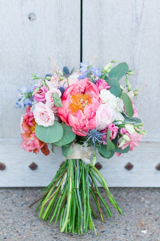 Peony Bridal Bouquet: Sweet & Charming Wedding at the Pittsburgh Botanic Garden from Madeline Jane Photography and Olive & Rose Events featured on Burgh Brides