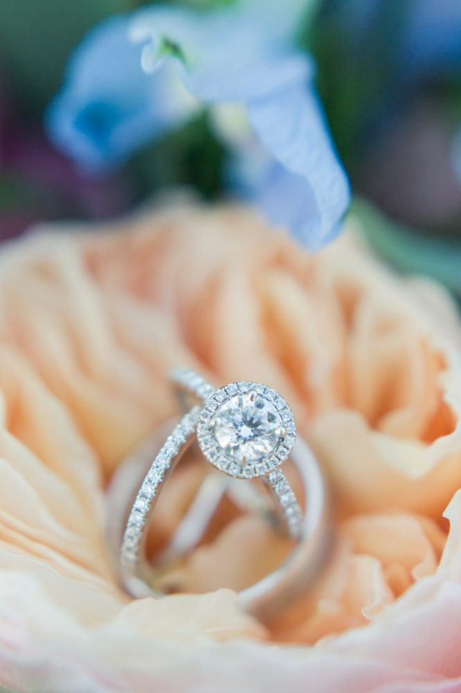 Round Diamond Engagement Ring: Sweet & Charming Wedding at the Pittsburgh Botanic Garden from Madeline Jane Photography and Olive & Rose Events featured on Burgh Brides