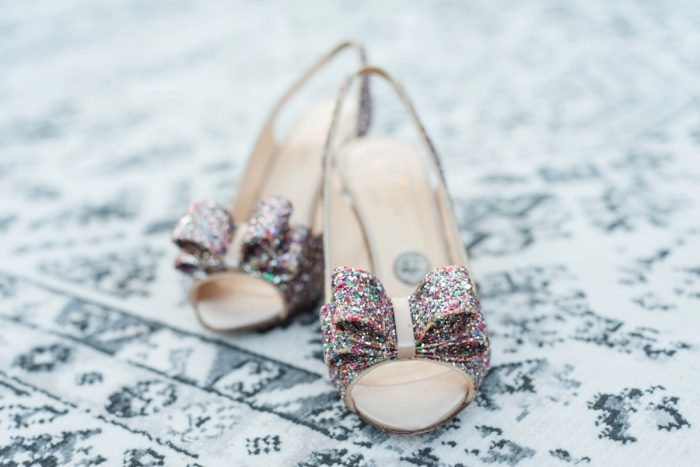 Glitter Wedding Shoes: Sweet & Charming Wedding at the Pittsburgh Botanic Garden from Madeline Jane Photography and Olive & Rose Events featured on Burgh Brides