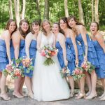 Periwinkle Bridesmaids Dresses: Sweet & Charming Wedding at the Pittsburgh Botanic Garden from Madeline Jane Photography and Olive & Rose Events featured on Burgh Brides
