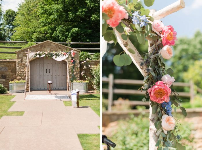 Chuppah Ideas: Sweet & Charming Wedding at the Pittsburgh Botanic Garden from Madeline Jane Photography and Olive & Rose Events featured on Burgh Brides