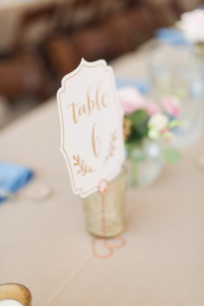 Table Number Ideas: Sweet & Charming Wedding at the Pittsburgh Botanic Garden from Madeline Jane Photography and Olive & Rose Events featured on Burgh Brides