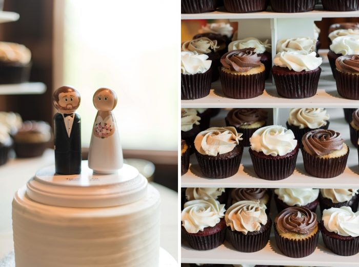Wedding Cupcake Display: Sweet & Charming Wedding at the Pittsburgh Botanic Garden from Madeline Jane Photography and Olive & Rose Events featured on Burgh Brides