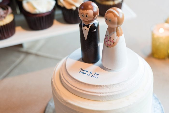 Wedding Cake Topper Ideas: Sweet & Charming Wedding at the Pittsburgh Botanic Garden from Madeline Jane Photography and Olive & Rose Events featured on Burgh Brides
