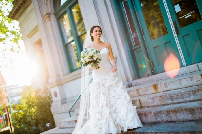 Ruched Ruffle Skirt Wedding Dress: Wedding Dresses: The Best of 2017 from Burgh Brides
