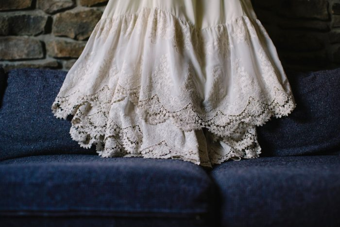 Boho Off the Shoulder Wedding Dress: Wedding Dresses: The Best of 2017 from Burgh Brides
