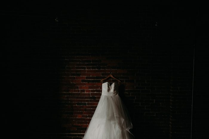 Ballgown Wedding Dress: White & Gray Industrial Wedding at the History Center from Rachel Rowland Photography featured on Burgh Brides