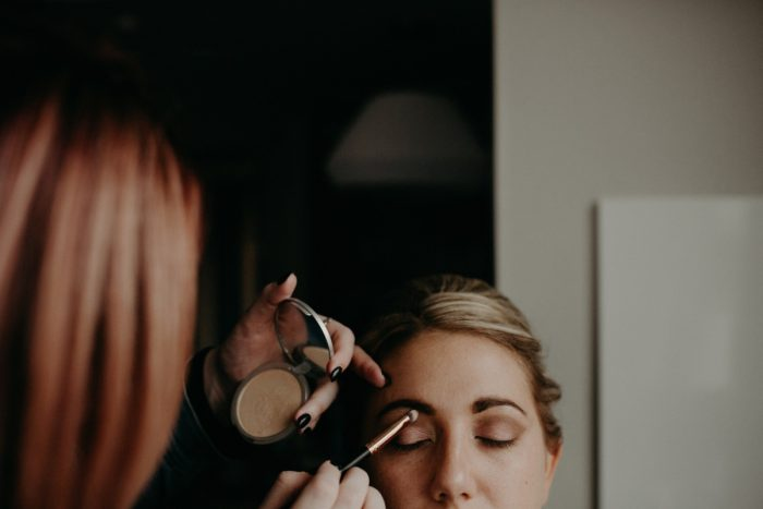 Bridal Makeup Ideas: White & Gray Industrial Wedding at the History Center from Rachel Rowland Photography featured on Burgh Brides