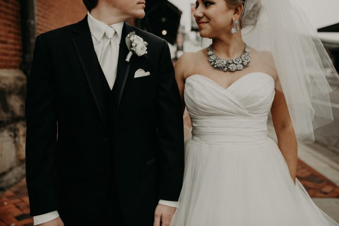 Classic Bride and Groom Look: White & Gray Industrial Wedding at the History Center from Rachel Rowland Photography featured on Burgh Brides
