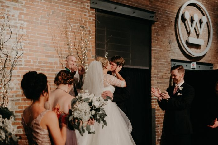 White & Gray Industrial Wedding at the History Center from Rachel Rowland Photography featured on Burgh Brides