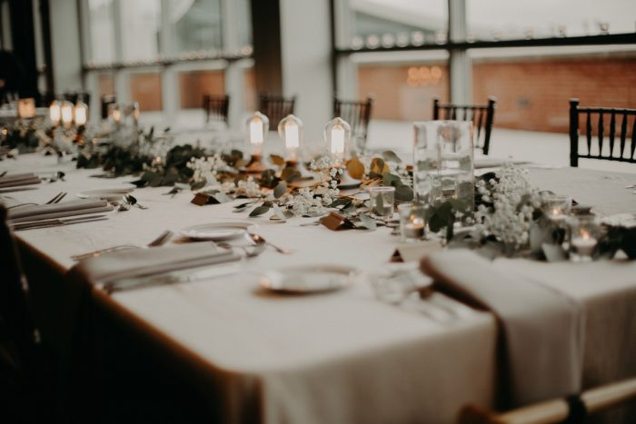 Industrial Wedding Ideas: White & Gray Industrial Wedding at the History Center from Rachel Rowland Photography featured on Burgh Brides