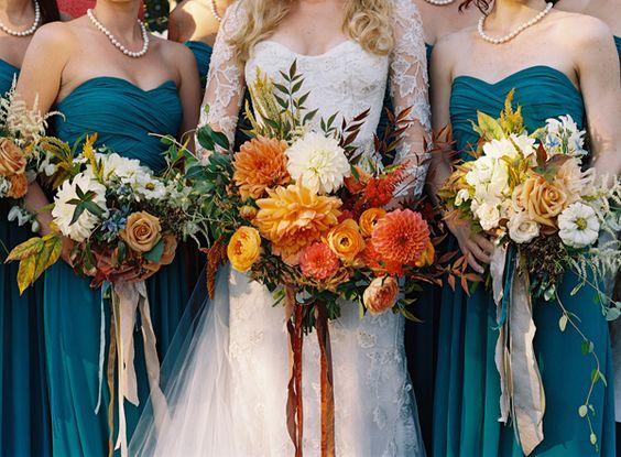 Burnt Orange Dark Teal Wedding Inspiration Burgh Brides