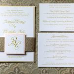 Pink & Gold Wedding Invitations with Glitter: Elegant Blush & Gold Wedding from Annie O'Neil Photography featured on Burgh Brides