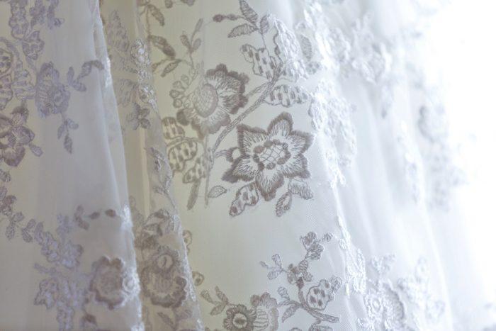 Lace Wedding Dress: Elegant Blush & Gold Wedding from Annie O'Neil Photography featured on Burgh Brides