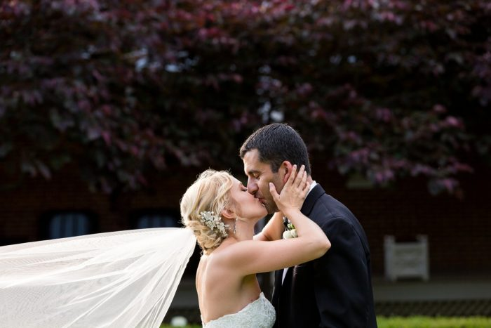 Outdoor Wedding Photos: Elegant Blush & Gold Wedding from Annie O'Neil Photography featured on Burgh Brides