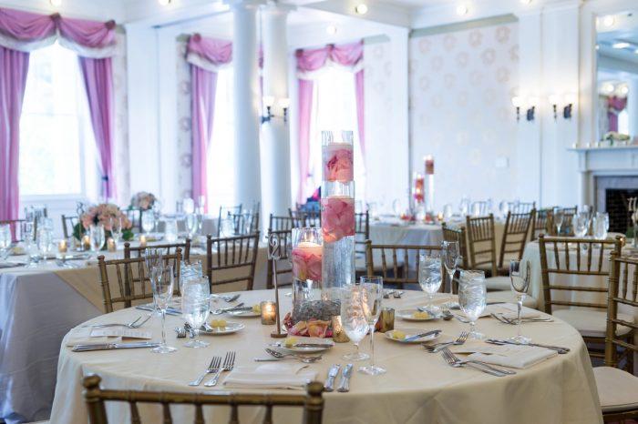 Ballroom Wedding Ideas: Elegant Blush & Gold Wedding from Annie O'Neil Photography featured on Burgh Brides