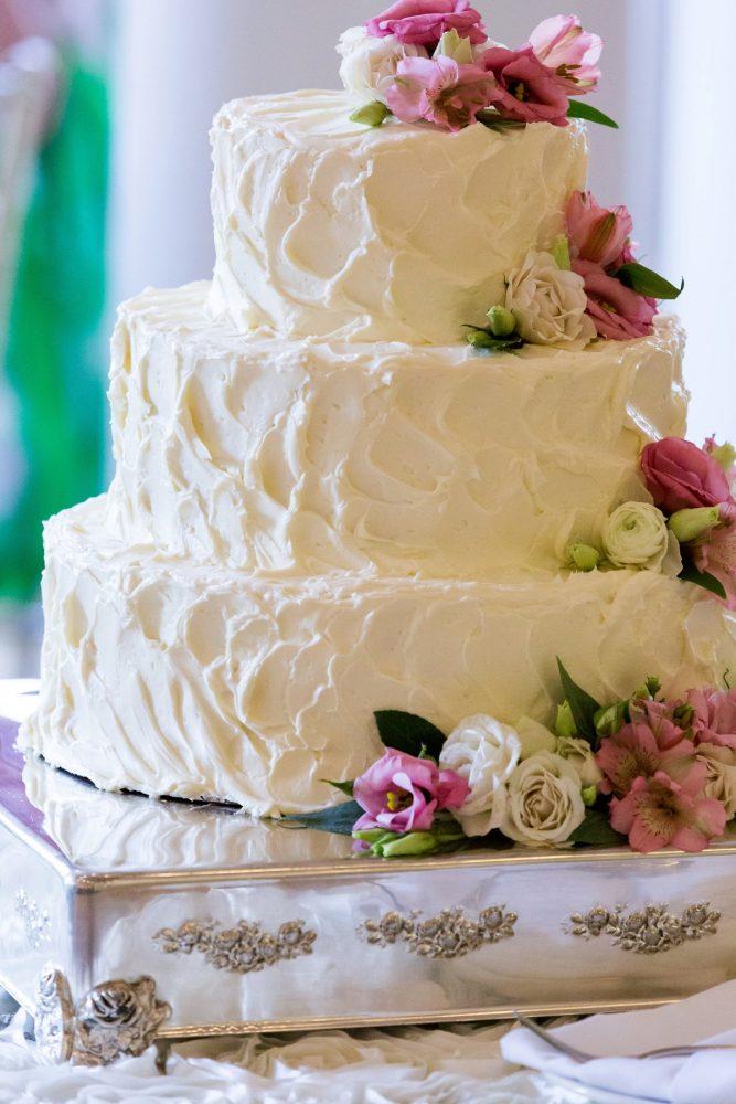 Buttercream Wedding Cake: Elegant Blush & Gold Wedding from Annie O'Neil Photography featured on Burgh Brides