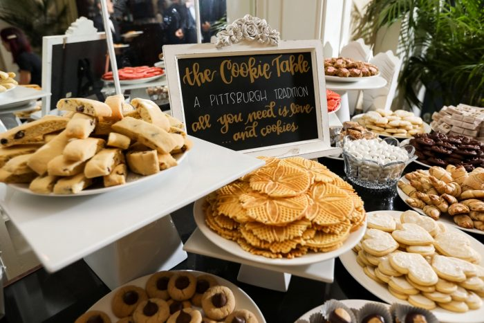 Pittsburgh Cookie Table: Elegant Blush & Gold Wedding from Annie O'Neil Photography featured on Burgh Brides