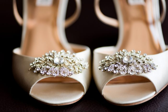 Beaded Peep Toe Ivory Wedding Shoes: Fresh Navy & Peach Wedding from Leeann Marie, Wedding Photographers featured on Burgh Brides